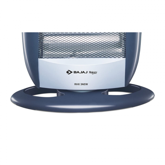 Bajaj 260088 New Majesty RHX 3 Halogen Room Heater, Silver Blue