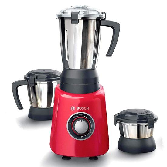 Bosch TrueMixx Radiance Mixer Grinder 600W 3 Jars, Red