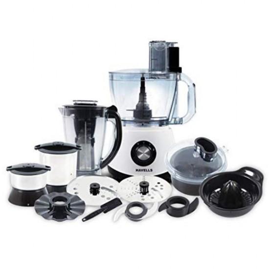 Havells Benzo 1200W Food Processor, Black & White