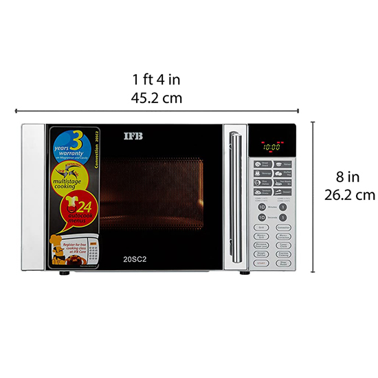 Buy Ifb 20 L Convection Microwave Oven 20sc2 Silver