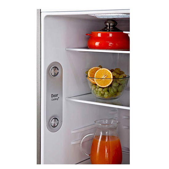 LG 335 L Frost Free 3 Star Inverter Double-Door Refrigerator GL-I372RPZY, Shiny Steel