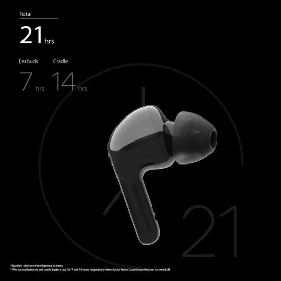 LG Tone Free HBS-FN7 True Wireless Bluetooth Earbuds, UV nano 99.9% Bacteria Free With ANC Bluetooth Headset, Black