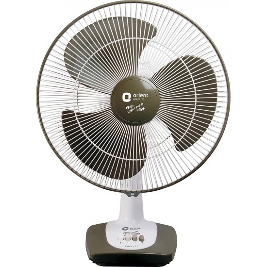 Orient Electric Table-27 400mm 3 Blade Table Fan, Grey Commander