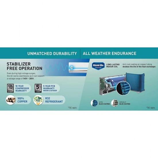 Panasonic 1.5 Ton 3 Star Wi-Fi Inverter Split AC Twin Cool PM 2.5 Filter (CS/CU-SU18WKYW), White