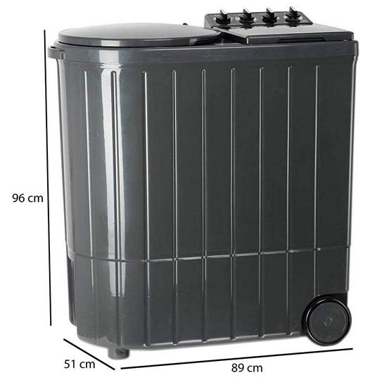 Whirlpool 10.5 Kg 5 Star Semi-Automatic Top Loading Washing Machine 3 D Scrub Technology (ACE XL 10.5 )-Graphite Grey